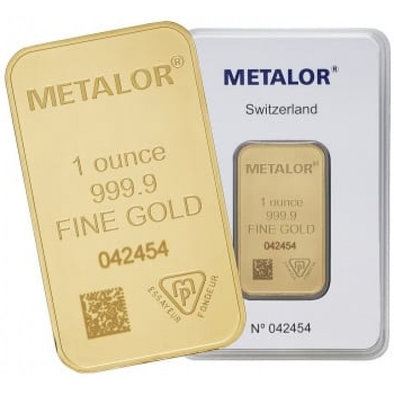 Metalor 1 oz Gold Bar