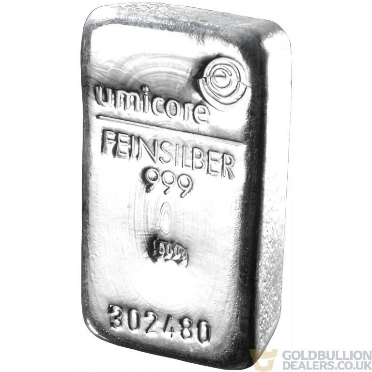 Umicore 500 Gram Silver Bar