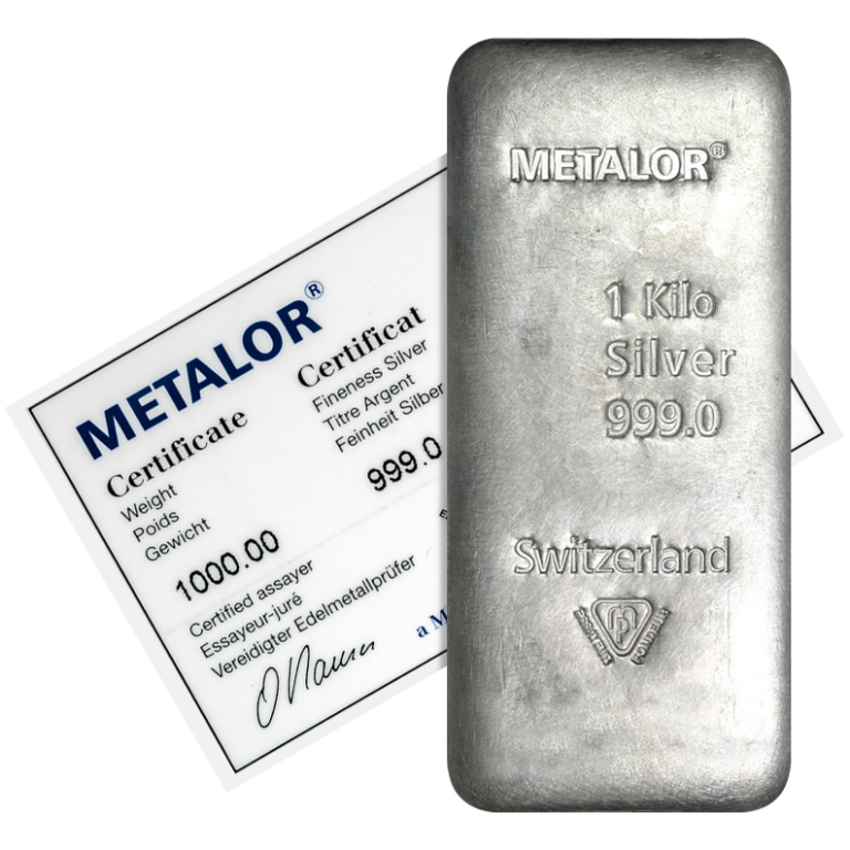 Metalor 1 Kilo Silver Bar