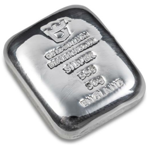 Gold Bullion Dealers 50 gram silver bar